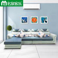 KL119-13-14-3米3客厅简约组合布艺沙发大连软包家具工厂直销