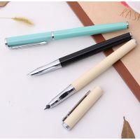得力文具S661学生练字专用钢笔0.38mm可替换墨囊可擦蓝色钢笔