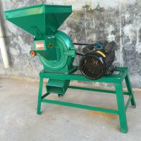 低价热卖卧式278锥形小麦面粉机 家用电动高粱玉米脱皮磨面机