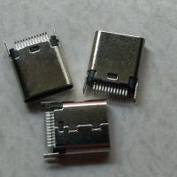 小米专用充电接口 TYPE-C夹板母座夹距0.8/1.0 L=9.3/10.0/8.5?插件式鱼叉脚