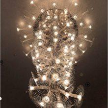 北欧轻奢别墅客厅水晶吊灯