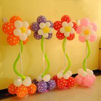 气球花造型气球立柱注水底座杆子可拆卸儿童生日派对店铺布置摆放