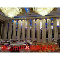 江西九江市伊添酒店活动隔断屏风 65型铝合金折叠门厂家报价