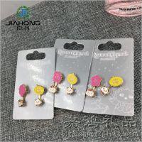厂家批发时尚搭配耳钉 锌合金卡通动物耳钉 活动促销礼品