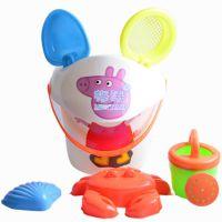 动手户外海边旅游卡通粉小猪夏季儿童戏水套装礼品玩大沙滩桶