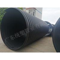 广东统塑管业钢带增强PE聚乙烯螺旋波纹管市政排水排污专用大口径2400可定制CJ/T225-2006