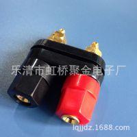 厂家供应 双联接线柱双连体 多色ABS塑胶材质接线柱