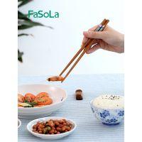FaSoLa家庭套装筷子一家四口筷子防滑儿童筷子酒店餐厅餐具日式