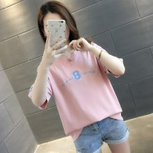 女装半袖便宜服装夏季T恤集市跑量女士纯棉T恤库存服装批发3-8元