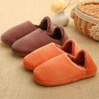 秋冬季居家保暖棉拖鞋日式家居包跟月子鞋两穿情侣室内毛绒拖鞋