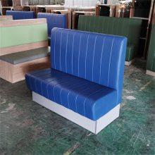中式快餐厅卡座沙发,皮革材质快餐店沙发订做