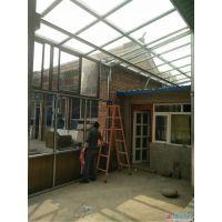 顺义玻璃房、玻璃顶封院子、农村自建房玻璃封院子、断桥铝封院子