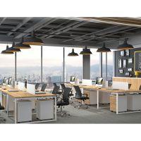 天津职员屏风办公桌现代简约工位桌4人职员卡位组合电脑桌椅办公