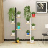 阳台花架实木铁艺室内多层客厅落地式现代简约花盆架子创意花架子
