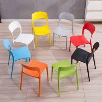 简约椅子成人白色塑料餐加厚靠背家用户外休闲彩色餐厅快餐店胶椅
