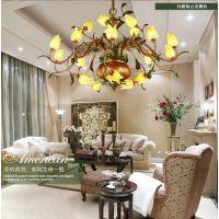 全铜现代新中式客厅灯简约中国风卧室餐厅复式楼别墅吊灯灯具