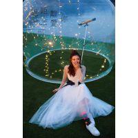飞剑定制亚克力3米透明水晶球婚礼 求婚布置拍摄道具半圆球