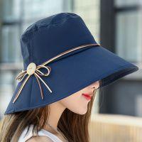 帽子女夏天户外出游防紫外线凉帽可折叠遮阳帽大沿百搭防晒太阳帽