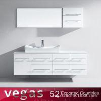 浴柜厂直销定制欧式烤漆白色浴室柜 挂墙式卫生间洗脸盆组合浴柜