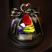 鲜花花礼盒玻璃罩生日礼品红色玫瑰花情人节七夕礼物保永生送女友