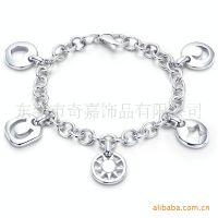 厂家供应 金属韩国链条扣压铸锌合金镂空牌子手链 时尚