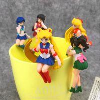 日本卡通 美少女战士 月亮公主立体公仔茶友 杯缘子 杯挂袋装5款