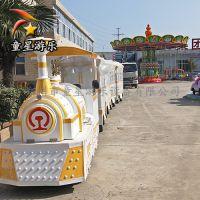 广场新型儿童游乐设备童星无轨火车多渠道收入
