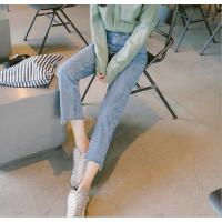 昆明哪里有便宜牛仔裤库存几块钱韩版牛仔裤时尚女装小脚裤批发