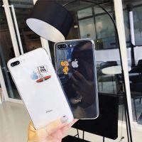 卡通搞怪猫老鼠苹果8plus手机壳透明软iphonex保护套可爱情侣款6s