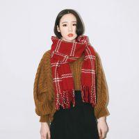 卡卡贝宁国际品牌新款欧美风百搭编织流苏围巾秋冬季保暖超大披肩