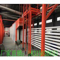 全自动喷漆喷塑流水线涂装生产线固化房悬挂线地轨线喷塑设备定制