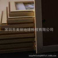 黄色照片墙简约复古相框墙创意组合相片墙欧式客厅装饰画原创挂画