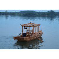 殿宝木船制造厂 水乡手划船 仿古船 木质游览船 餐饮船