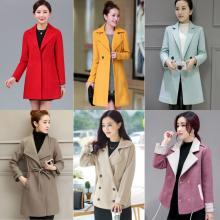 韩国代购毛呢外套女中长款韩版2018新款秋冬季双面羊绒呢子大衣潮