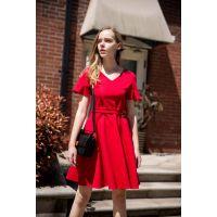 迪思兰柏19夏装年轻时尚新款连衣裙品牌女装尾货折扣走份