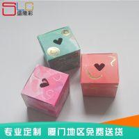厂家定做化妆品纸盒 爱心精美开窗彩盒 礼品包装盒印刷