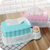 塑料伸缩纸巾盒 创意方形抽纸盒带牙签筒 家居用品餐馆食堂餐巾盒