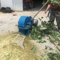 柴油汽油枝条破碎机 移动式果园碎枝机 大型果园树枝树叶粉碎机