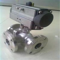 中山国标三通球阀生产Q644F气动三通球阀规格型号Q644F-25P DN250