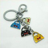 女士包包钥匙挂坠  卡通箱包钥匙挂件厂家  景泰蓝金属挂件定做