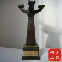 江苏建设工程扬子杯奖杯,合金材质奖品、协会颁奖晚会纪念品制作