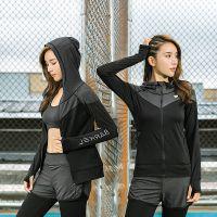 2018秋冬新款速干衣跑步运动套装 修身显瘦专业瑜伽服 女五件套装