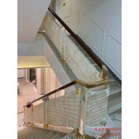 昆明铝合金扶手栏杆 铝镀金楼梯扶手旋转图片