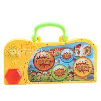多功能可折叠电子琴带手拍鼓 儿童早教乐器玩具 支持一件代发