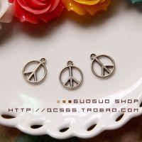 DIY饰品配件藏银合金吊坠挂件 反战标 和平符号