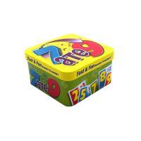 义信利f98儿童辅食饼干铁盒 婴幼儿糖果食品铁盒 正方形玻璃弹珠包装盒
