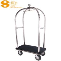 专业生产SITTY斯迪90.2021S金属镜光不锈钢手推行李车