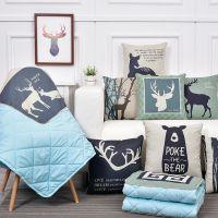一件代发北欧抱枕被子两用空调被汽车多功能沙发靠垫靠枕抱枕午休