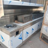 政润餐饮油烟净化器不锈钢排烟罩无烟净化烧烤车生产厂家