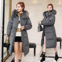 一件代发冬季新款羽绒棉服女中长款加厚街头大毛领韩版bf棉袄宽松